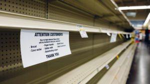 bare grocery shelves